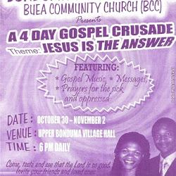 Bonduma Village Crusade Day 0