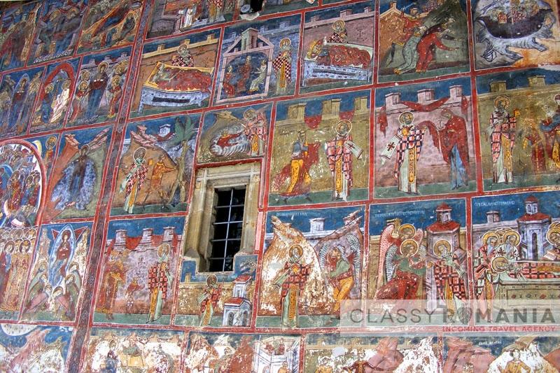 detaliu fresce manastirea humor