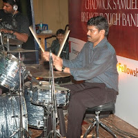 k.Pas. Ben in action on the drums