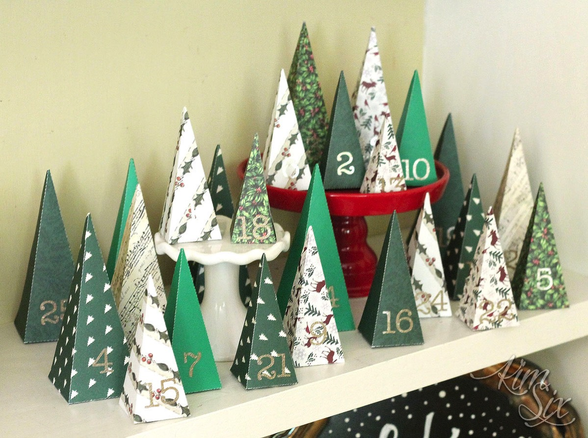 Diy paper tree folded advent calendar