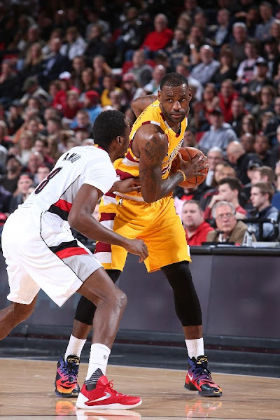 LeBron Debuts Doernbecher 13s in Cavs Humbling Loss in Portland