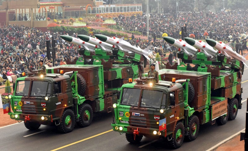 Akash Air Defence Surface to Air Missile [SAM] - Indian Army - Republic Day 2017