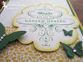 stampin up herzenswünsche floral frames schmetterlinge