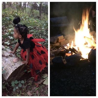 Halloween Fun The Daily April N Ava Atlanta Georgia ladybug costume firepit