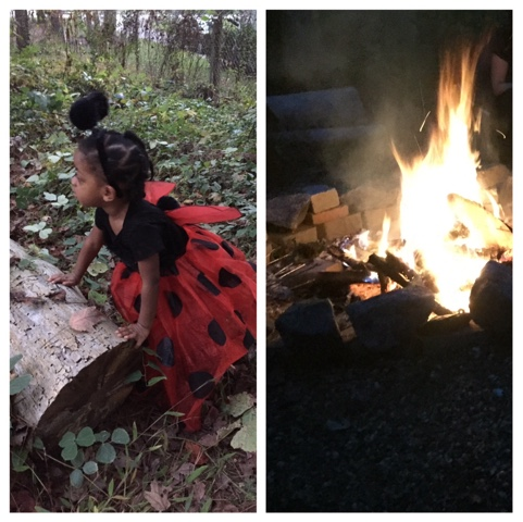 Halloween Fun TheDailyAprilNAva Atlanta Georgia ladybug costume firepit  top atlanta georgia black mom mommy motherhood blogger