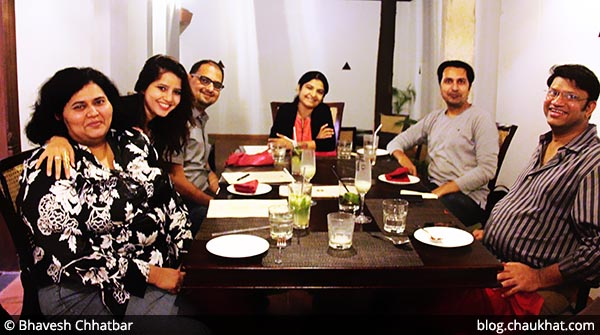 Group of food bloggers at Savya Rasa [Koregaon Park, Pune]