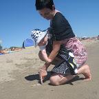 Ringsling - Eerste keer op het strand