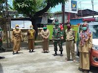 Bhabinsa Kel. Maccini Dan Kel. Barabaraya Serta Bhabinsa Kel. Lariangbangngi Koramil 08 Kecamatan Makassar Berkolaborasi Gelar Penyemprotan Disinfektan