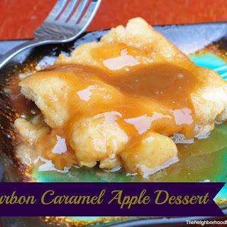 Bourbon Caramel Apple Dessert.