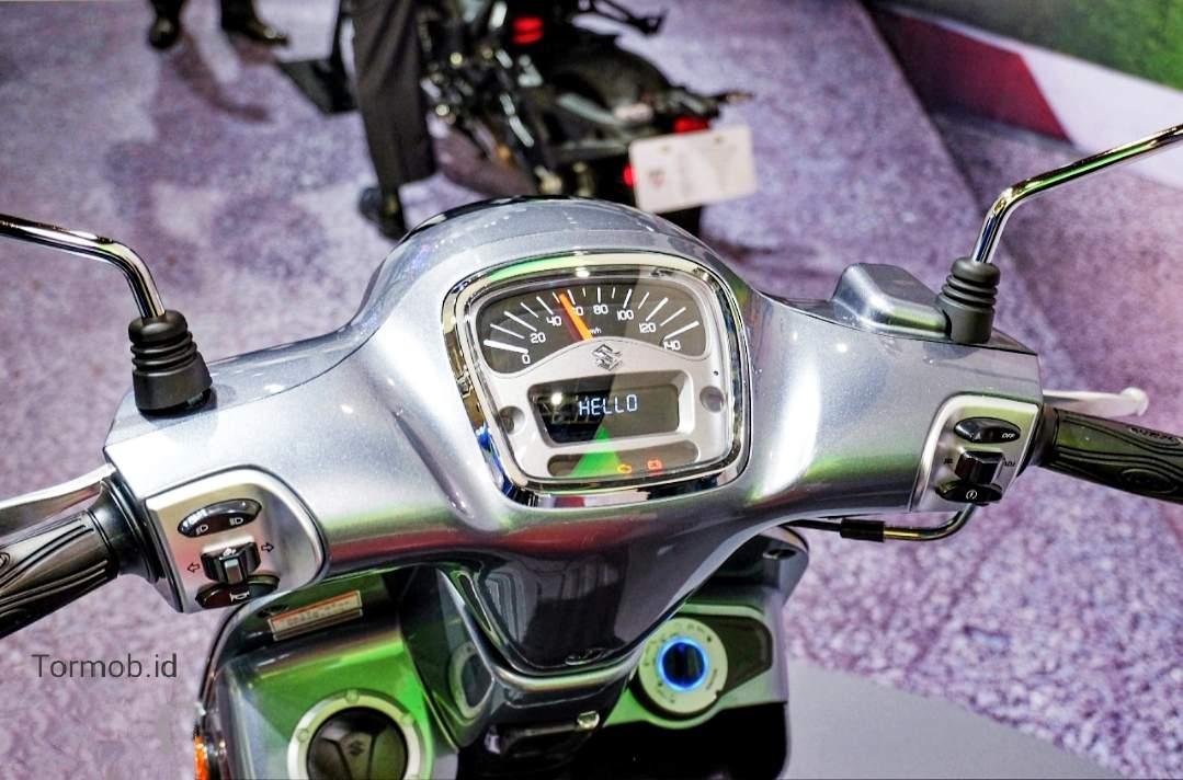 Speedometer kombinasi Retro dan digital klasik Suzuki saluto