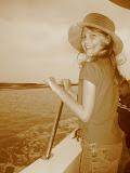 Bethanie on the Bali ferry