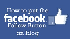 How to put the facebook follow button on blog