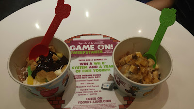 """Game On!"" with Nintendo treats at Yogurtland"
