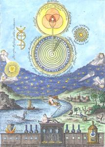 From Carl Herrmann Gravel Fontina Bernhardi Revelata 1750, Alchemical And Hermetic Emblems 1