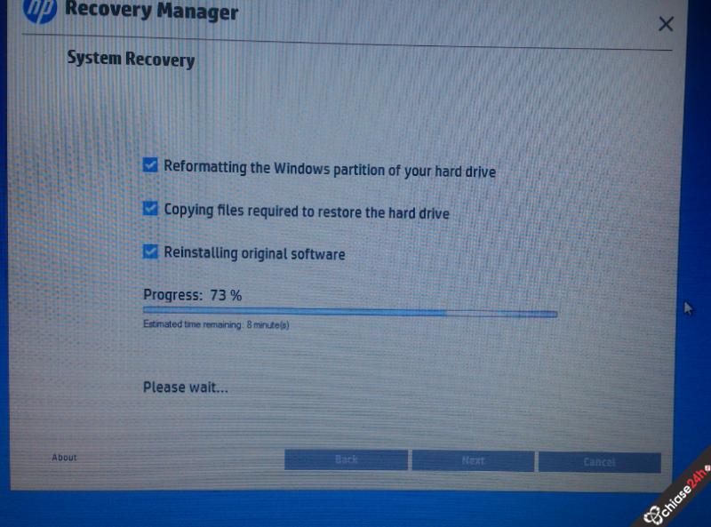 Hướng dẫn Recovery Windows 8 bản quyền trên máy HP