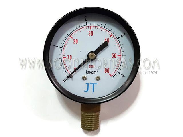 เกจ์วัดแรงดันแก๊ส ( HIGH PRESSURE GAUGE ) JT 4 kg./cm2
