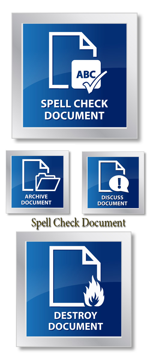 Stock Photo: Spell Check Document