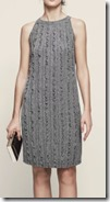 Reiss Metallic Ruffled Knitted Dress