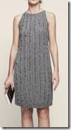 Reiss Metallic Ruffled Knitted Dress