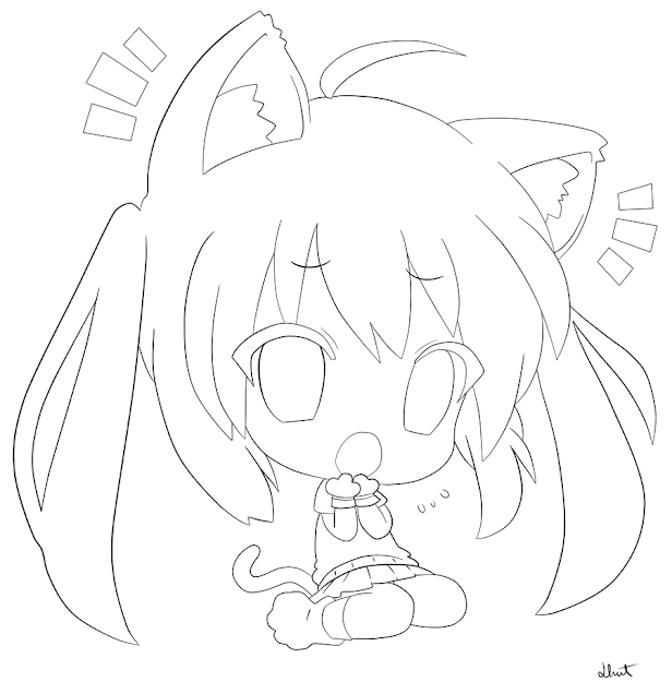 Chibi Coloring Pages  Cute Anime Chibi Coloring Pages