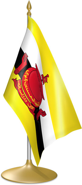 Bruneian table flags - desk flags