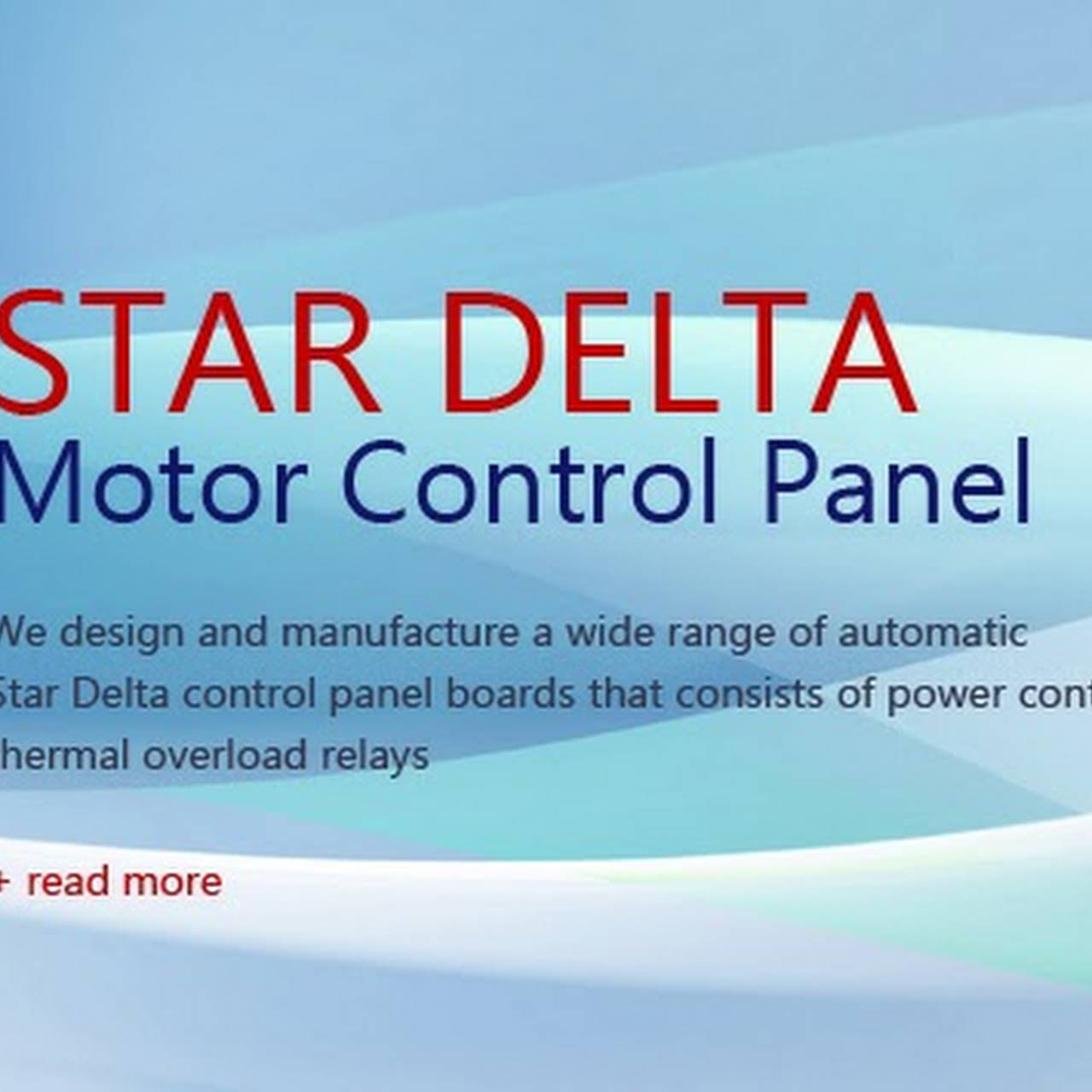Star Delta Motor Control Panel - Electrical Equipment Supplier in ...