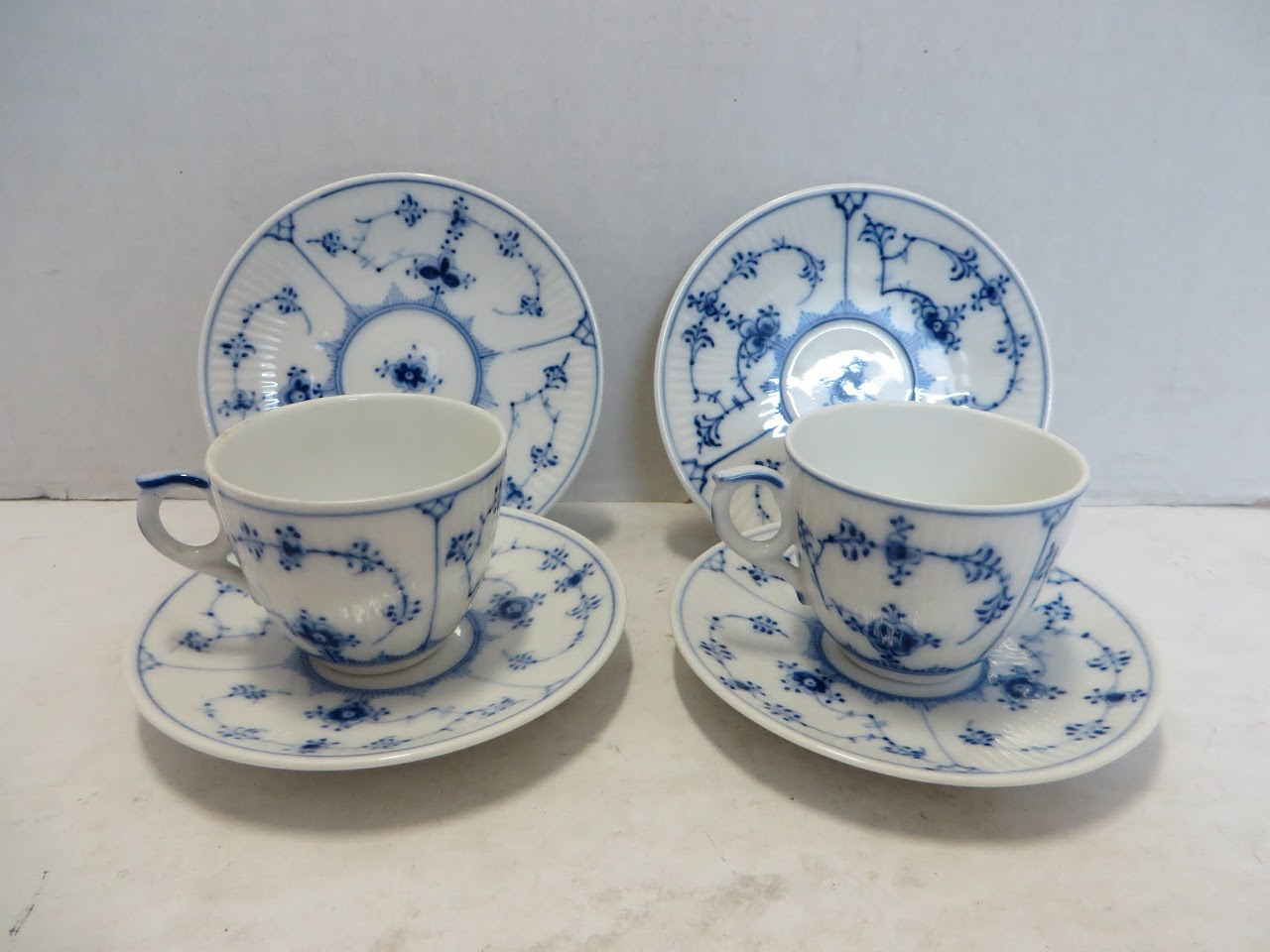 Royal Copenhagen Tea Cups and Saucers