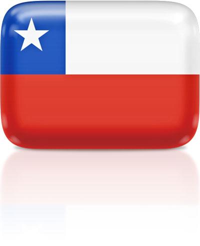 Chilean flag clipart rectangular