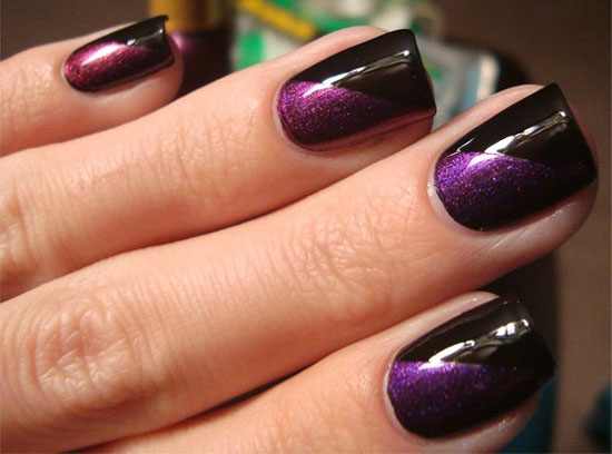 Easy purple nail art photos tutorial fashion qe nail art white nails with purple flowers nail art design white and purple gradient nail art design idea studded purple nail art design idea silver nails prinsesfo Gallery