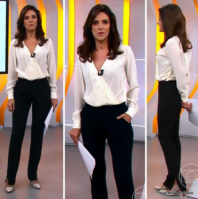 moda do programa Hora 1, look da Monalisa Perrone dia 6 de janeiro