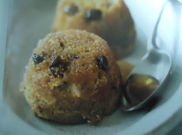 My Individual Golden Raisin Syrup Sponge Cakes | Just A Pinch