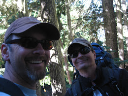 Jorma and Ron on the Heliotrope trail... heading up to the Mt Baker Coleman/Deming summit route.