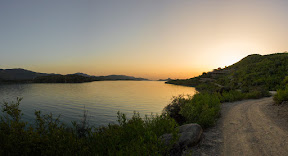 Unforgettable sunset view over Khanpur Dam