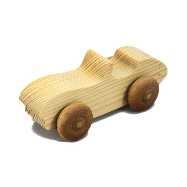 Handmade Wooden Toy Car Convertable Sports Coupe Snazzy Ripsnorter