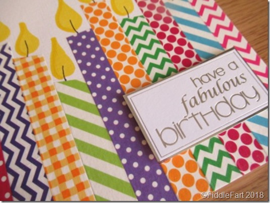 washi tape candle card.