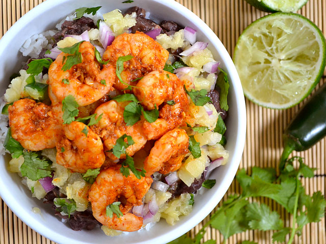chili lime shrimp bowls