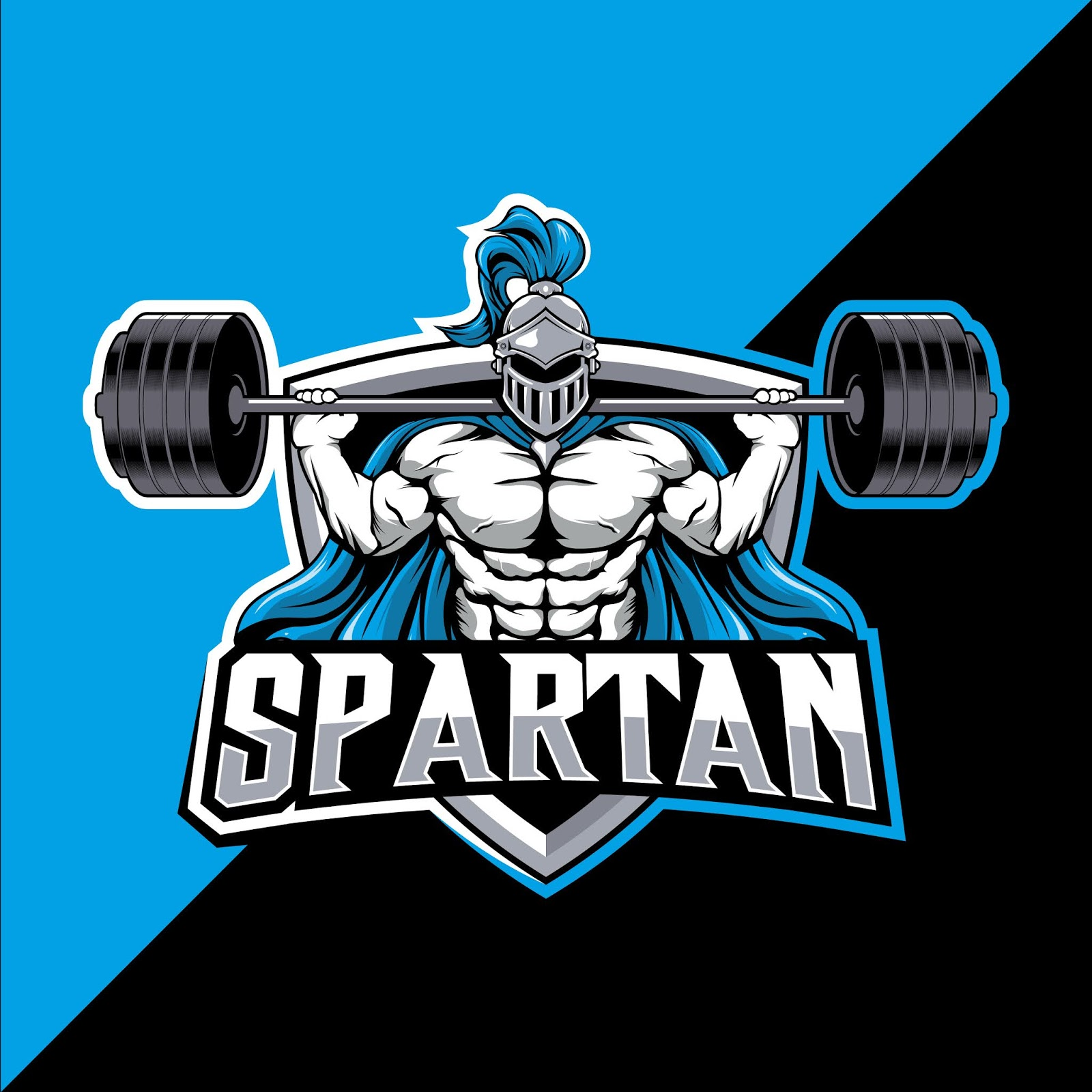 Spartan Mascot Fitness Esport Logo Design Free Download Vector CDR, AI, EPS and PNG Formats