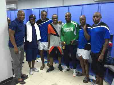 Vincent Enyeama, Nwankwo, Okocha, Adepoju, Eguavon, Shorunmu Pictured Together