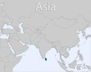 Sri Lanka location map