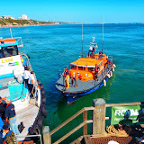 The ALB comes in to Bournemouth Pier to bring a person ashore following a medivac from one of the passenger vessels in Poole Bay. 31 August 2013 Photo: RNLI Lifeguards
