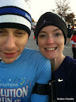 Pre-race. It was VERY cold. Just like last year.