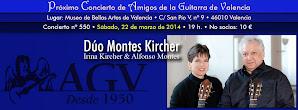 Concierto de AGV: Duo Montes-Kircher. Irina Kircher & Alfonso Montes. 22 de marzo 2014