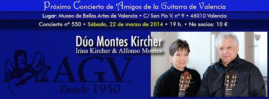Duo Montes-Kircher. Irina Kircher & Alfonso Montes en concierto de Amigos de la Guitarra de Valencia