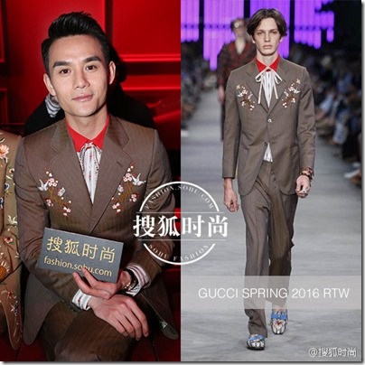 2016.01.18 Wang Kai X Milan Fashion Week AF16 X GUCCI 王凱 2016秋冬男裝週 0