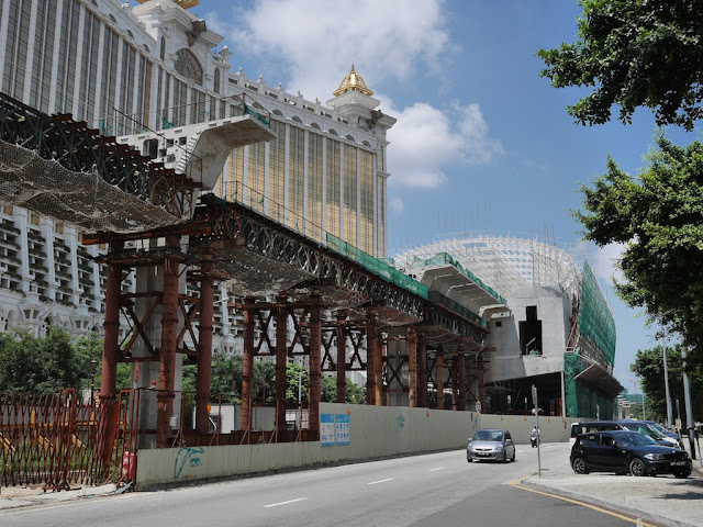 under-construction Pai Kok light rail station in Macau