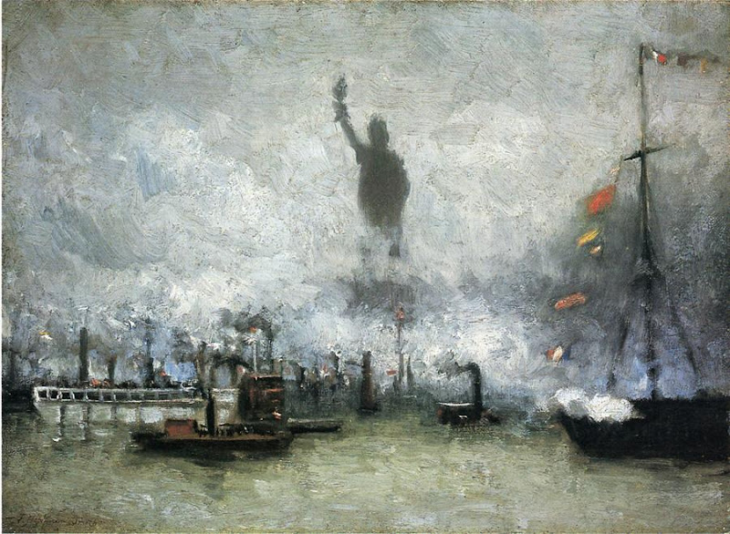 Francis Hopkinson Smith - The Statue of Liberty Like