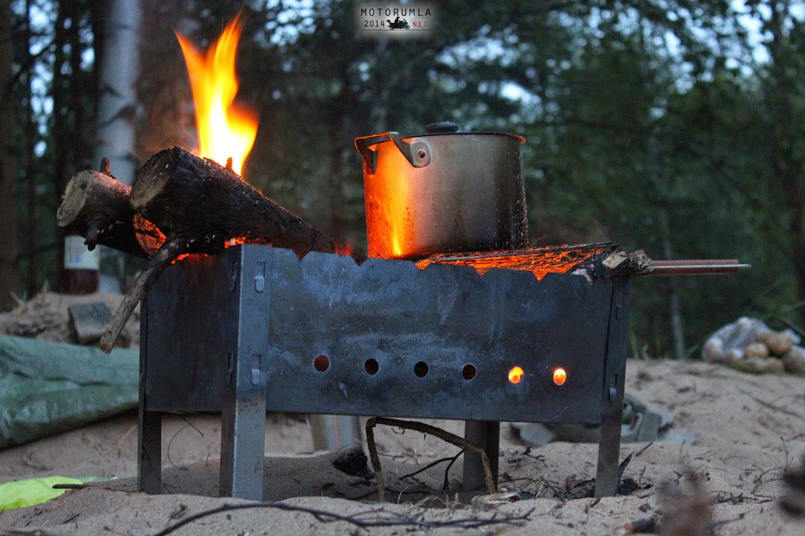 mangalda yemek pişirme