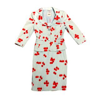 Moschino Cheap & Chic Cherry Dress Suit