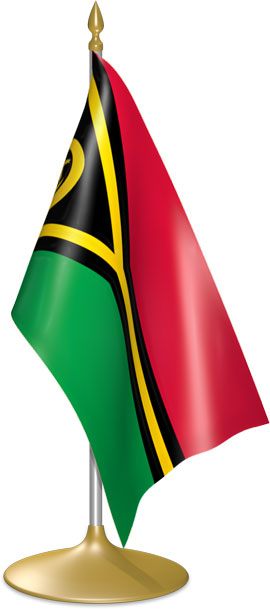 Vanuatuan table flags - desk flags