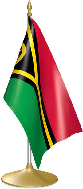 Vanuatuan table flags - desk flags
